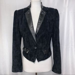 [Wilsons] Suede & Leather Cropped Jacket - Size 10